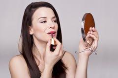 Menina lindo com espelho Fotos de Stock