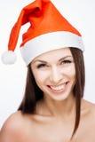 Menina lindo de Santa Fotografia de Stock Royalty Free