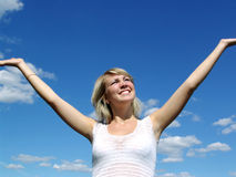 Menina livre feliz foto de stock royalty free