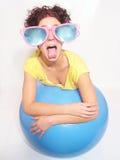 Menina louca Imagem de Stock Royalty Free