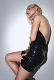 Menina loura, atrativa 2 da forma fotografia de stock royalty free