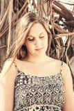 Menina loura bonita Foto de Stock Royalty Free