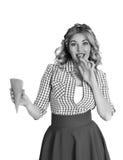 Menina loura com gelado Fotos de Stock Royalty Free