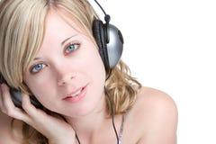 Menina loura da música imagens de stock royalty free