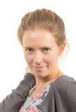 Menina loura de sorriso Fotografia de Stock