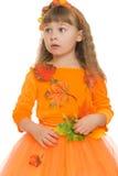 Menina loura pequena engraçada Imagens de Stock Royalty Free