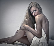 Menina loura sensual Fotos de Stock