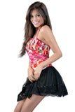 Menina magro em uma saia curta Fotos de Stock Royalty Free