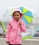 Eu não deixarei a chuva obter-me para baixo Fotos de Stock Royalty Free