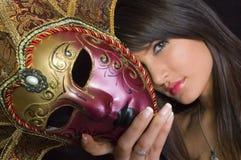 Menina mascarada Imagens de Stock Royalty Free