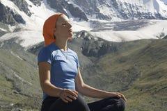 Menina Meditating #06 Imagens de Stock