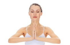 Menina Meditating Foto de Stock Royalty Free