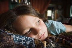 Menina melancólica Fotografia de Stock