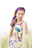 Menina modelo na praia Imagem de Stock