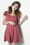 Menina modelo triste loura bonita Imagem de Stock Royalty Free