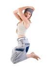 Menina moderna do dançarino do estilo. imagens de stock