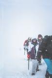 Menina-montanhista foto de stock
