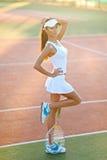 Menina moreno elegante bonita Imagens de Stock Royalty Free