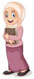 Menina muçulmana ilustração royalty free