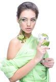Menina muito bonita no fundo Imagens de Stock Royalty Free