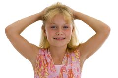 Menina muito feliz foto de stock royalty free