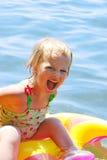 Menina na água. imagem de stock royalty free