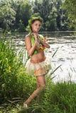 A menina na água Imagens de Stock Royalty Free