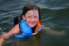 Menina na água Fotografia de Stock Royalty Free