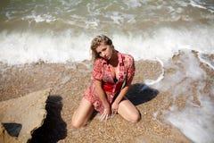 Menina na água Foto de Stock
