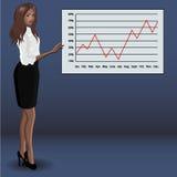 Menina na apresentação do negócio Imagem de Stock