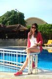 Menina na associação em um dia ensolarado quente Fotos de Stock Royalty Free