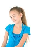 Menina na blusa azul Fotografia de Stock