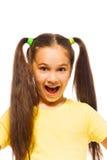 Menina na camisa amarela Imagens de Stock Royalty Free