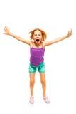 Menina na camisa roxa Fotografia de Stock