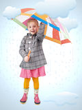 Menina na chuva Fotos de Stock
