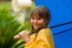 Menina na chuva Foto de Stock Royalty Free