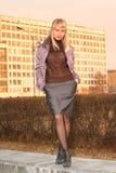 Menina na cidade Fotos de Stock Royalty Free