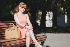 Menina na cidade velha Foto de Stock