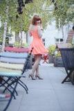 Menina na cidade velha Imagens de Stock Royalty Free