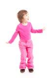 Menina na cor-de-rosa Fotografia de Stock