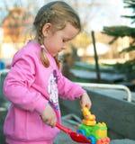 Menina na cor-de-rosa Foto de Stock Royalty Free