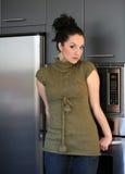 Menina na cozinha Fotos de Stock