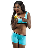 Menina na dieta Imagens de Stock Royalty Free