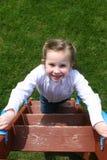 Menina na escada Fotografia de Stock Royalty Free