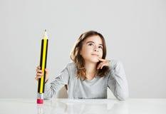 Menina na escola Imagens de Stock