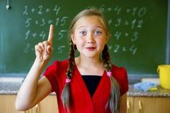 Menina na escola fotos de stock royalty free