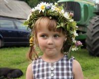 Menina na exploração agrícola Foto de Stock