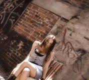Menina na faixa Foto de Stock