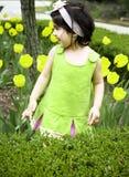 Menina na flor garden5 Fotografia de Stock