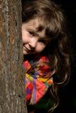 Menina na floresta fotografia de stock royalty free